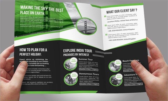 Travel Brochures  Sample Example Format