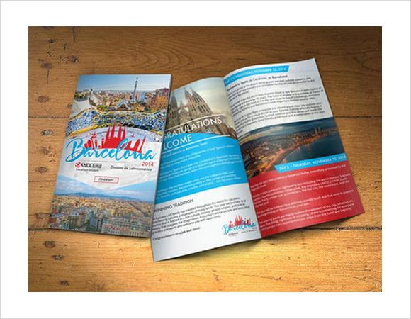 travel brochure template download