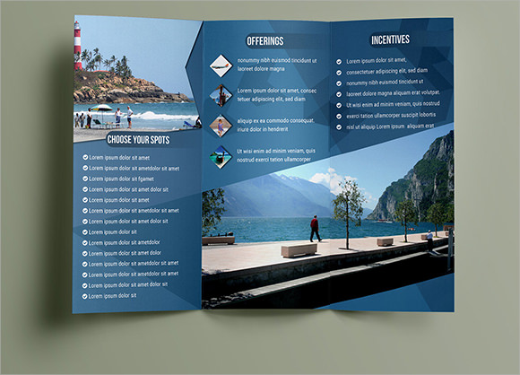 10 travel brochures sample templates for Download free brochure templates