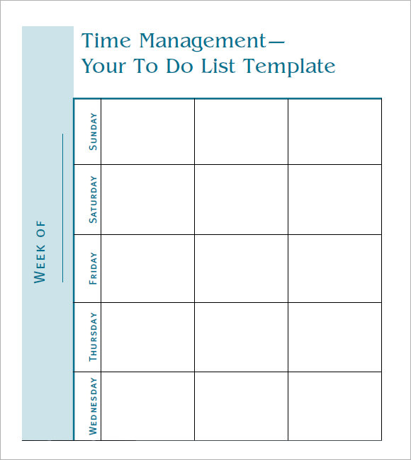 sample of to do list template