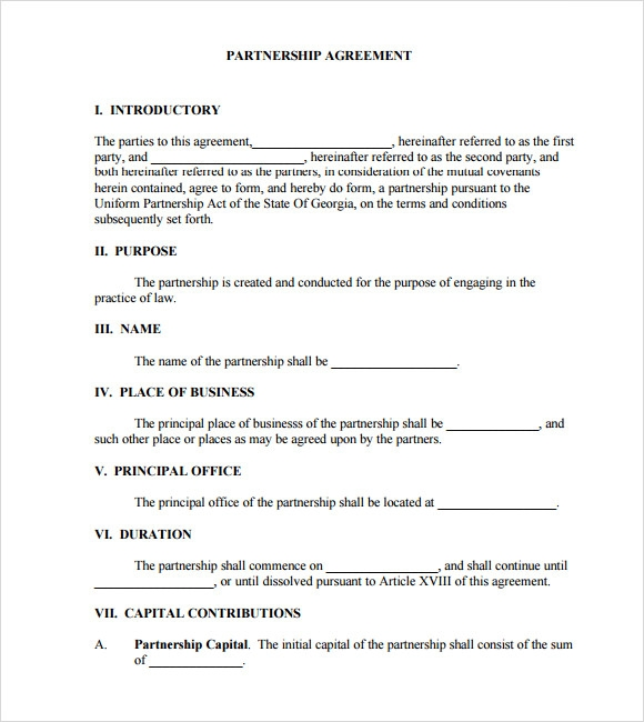 Business partnership agreement template business partnership agreement templates free samples examples friedricerecipe Choice Image