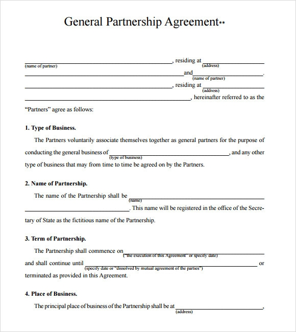 Doc400518 Partner Contract Sample Partnership Agreement – Business Partner Contract