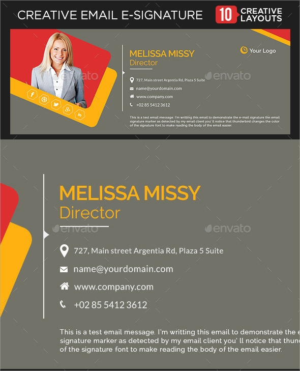 8 Sample Email Signatures PSD Vector EPS – Sample Email Signature