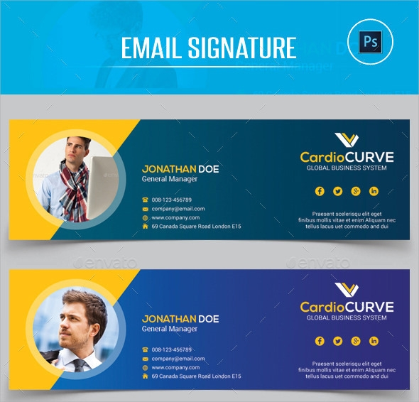 Sample Email Signatures  Psd Vector Eps