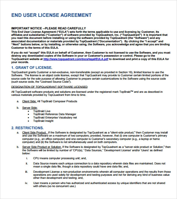 License Agreement Pdf : Eightieth.Ga