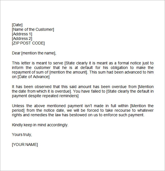 free demand letter template .
