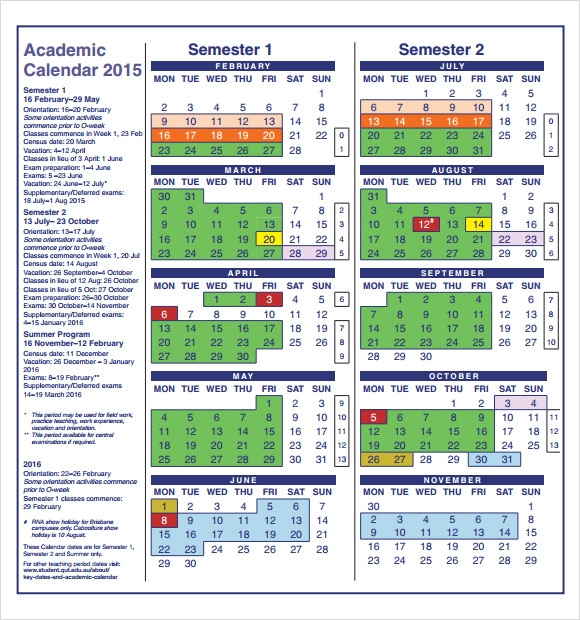 Academic Calendar – 8+ Free Samples, Examples & Format