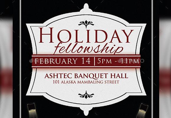 holiday invitation psd