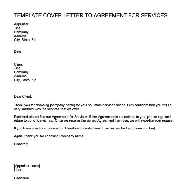 Letter Of Agreement For Services