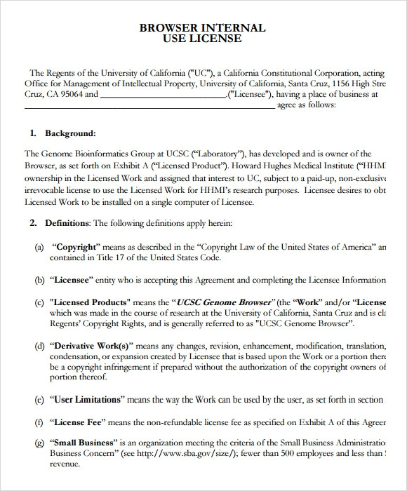 licensing agreement pdf