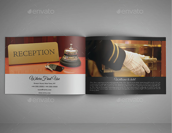 13 hotel brochures sample templates for Hotel brochure design inspiration