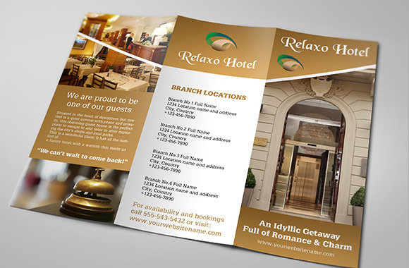 13 hotel brochures sample templates for Hotel brochure templates free download