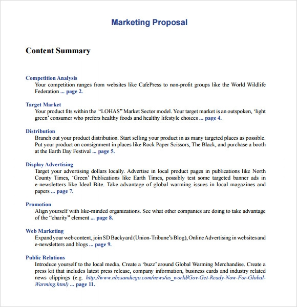 10+ Marketing Proposal Templates – Free Sample, Example, Format
