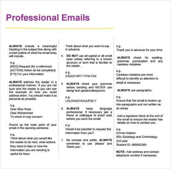 How to write a professional email examples leoncapers how to write a professional email examples sample professional email 7 examples format altavistaventures Images