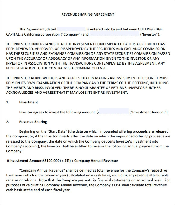 profit share agreement template 11 sample profit sharing agreements sample templates