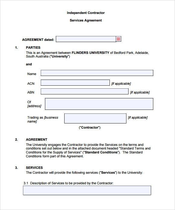 9 sample contract agreements sample templates