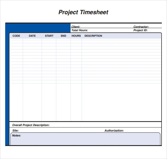 sample project timesheet pdf