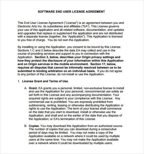 Eula End User Licence Agreement Template Stack Overflow Mandegarfo