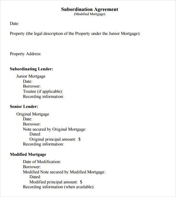subordination agreement pdf example