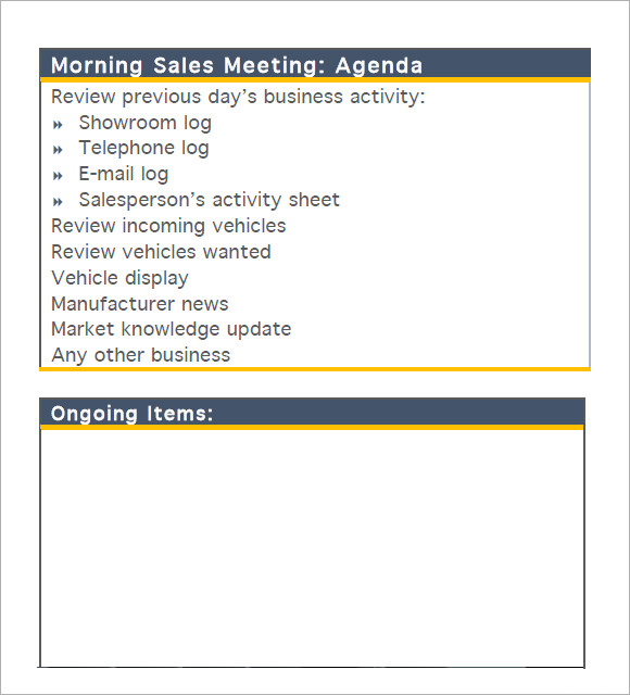 t047 daily sales meeting agenda sales staff pdf1