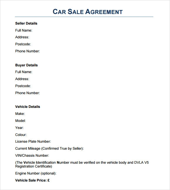 sample sales agreement 7 examples format
