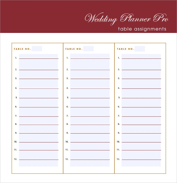 Sample Wedding Guest List   Documents In Pdf Word
