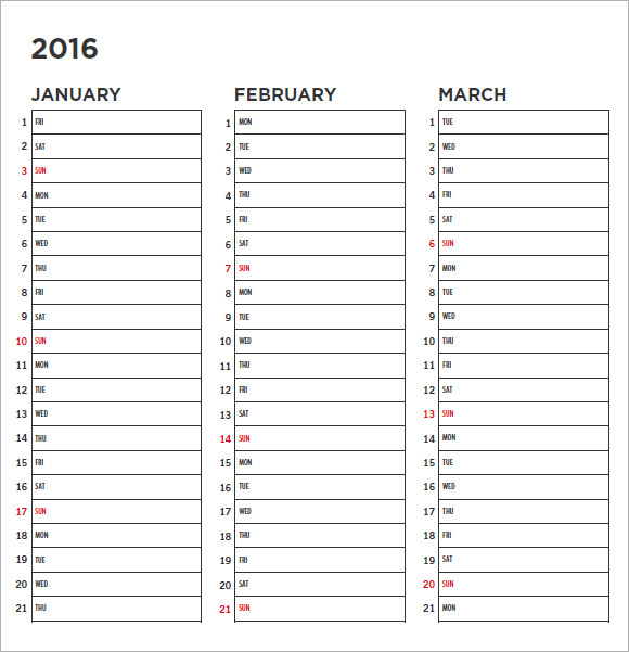 12 Blank Calendar Templates – Free Samples, Examples ...