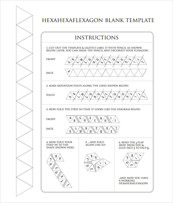hexaflexagon template sample