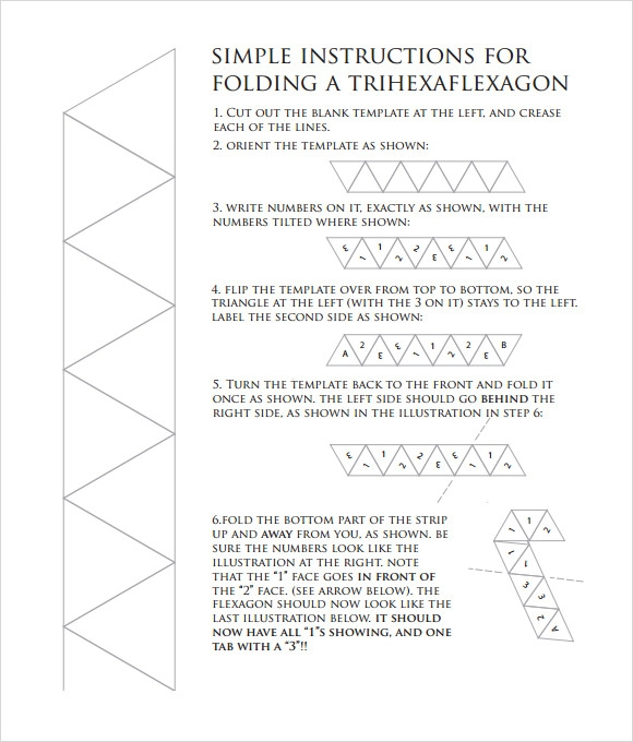 Sample Hexaflexagon Template  Free Documents In Pdf