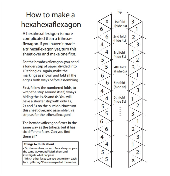 Hexaflexagon Template- 7 Download Free Documents in PDF ...