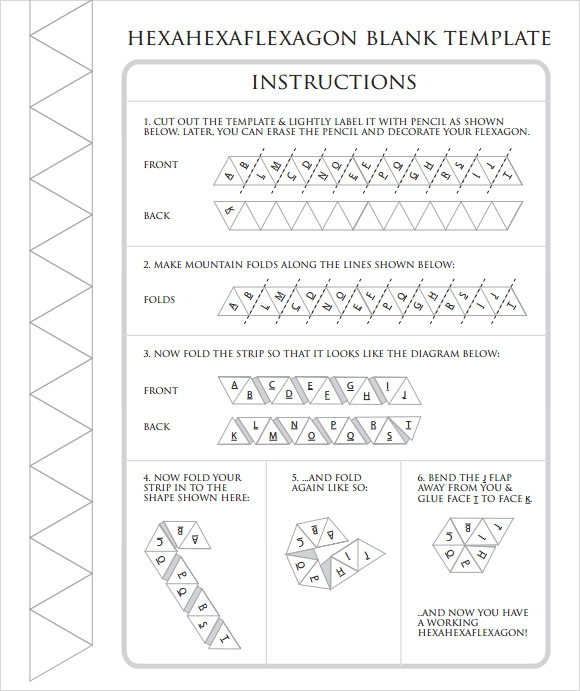 sample hexaflexagon template