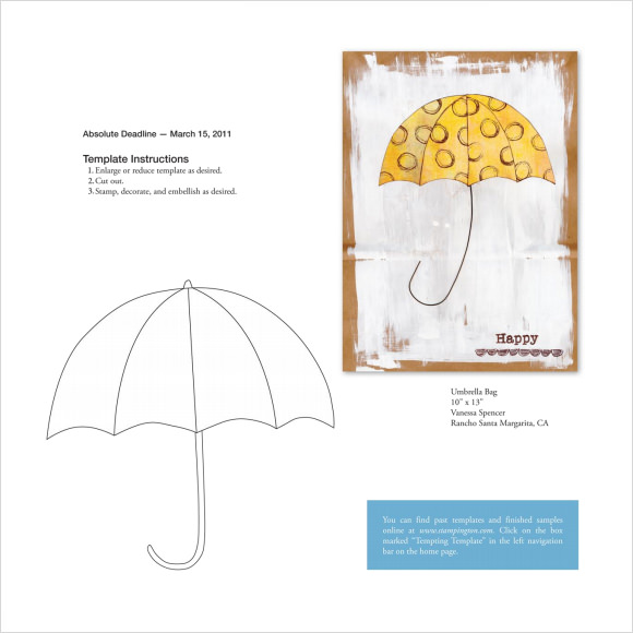umbrella template to print