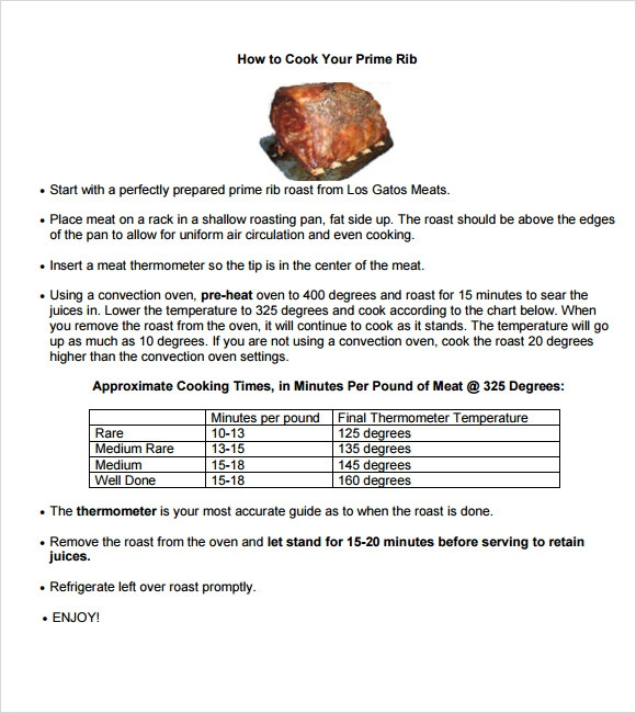 Prime Rib Roast Recipe and Temperature Chart   BBQ Spot