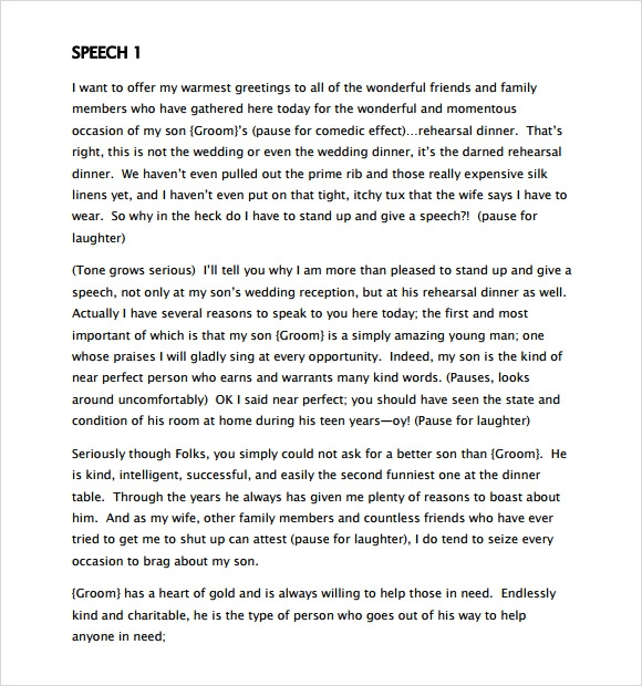 father of the bride speech templates - 9 father of the bride speech samples sample templates