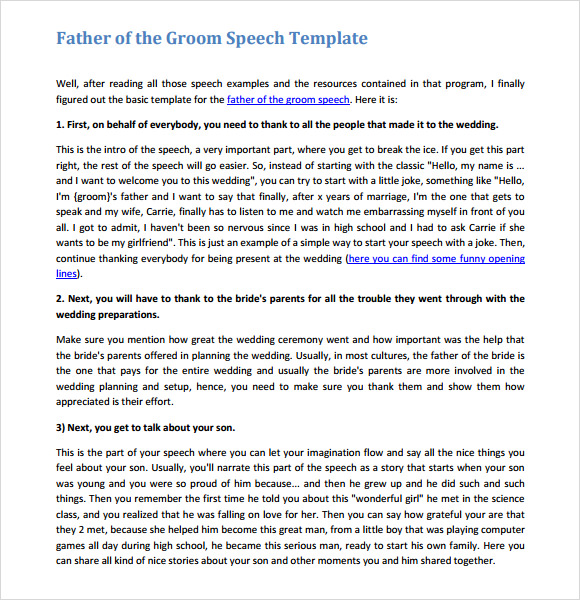 Sample Graduation Speech   Documents In Word Pdf