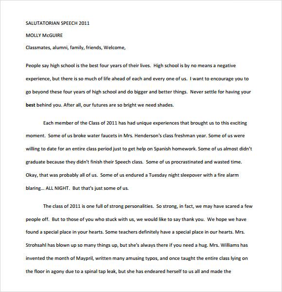 how to write an speech