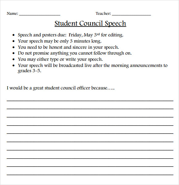 Middle school student council essay examples - Student Council