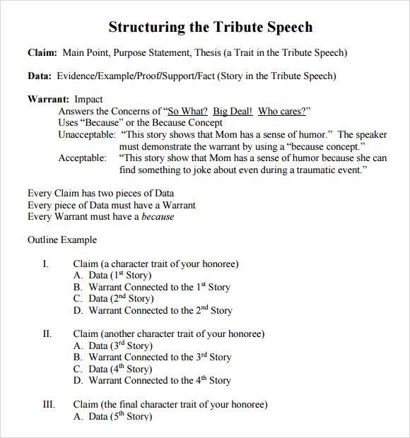 speech writing certificate