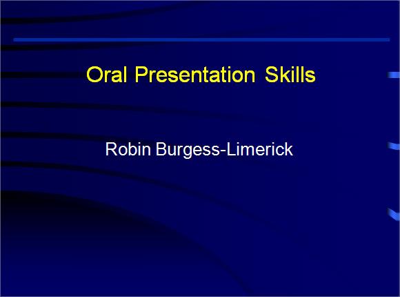 presentation skills training ppt