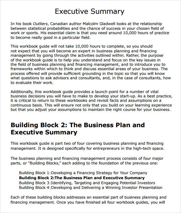 Reflection Report - Business Plan
