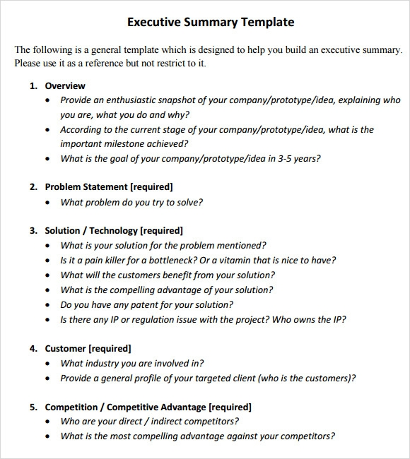 How To Write Executive Summary In Cv Format Tips Writing An