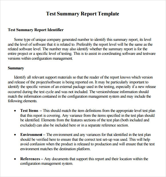 How to write a technical report executive summary