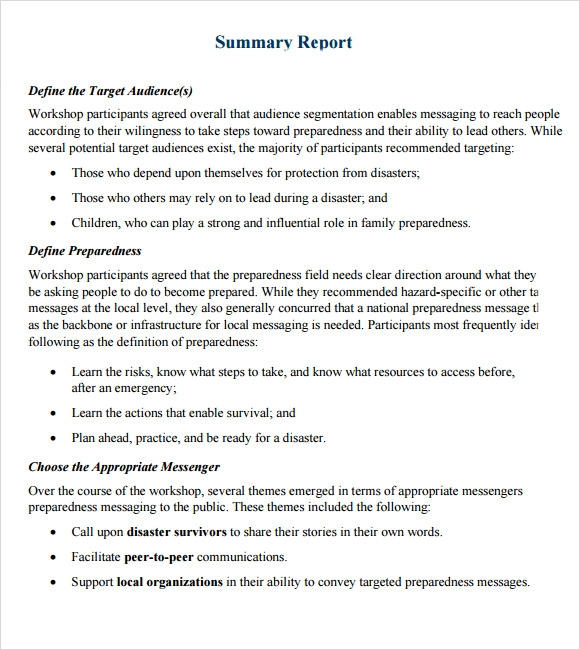Amazing Sample Summary Report Template Images Guide to the – Project Summary Report Example