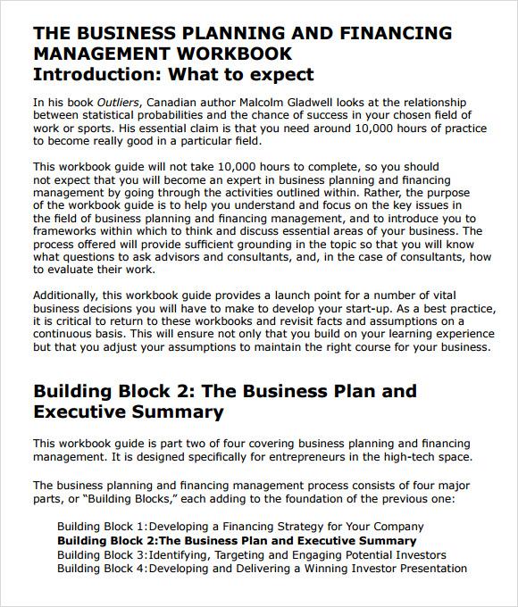 6 business summary samples sample templates