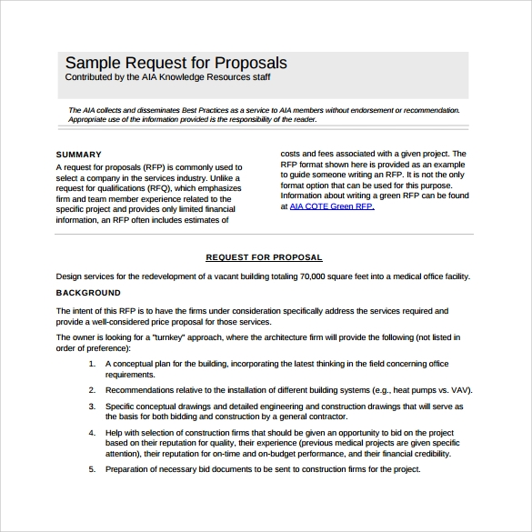 sample rfp template to download