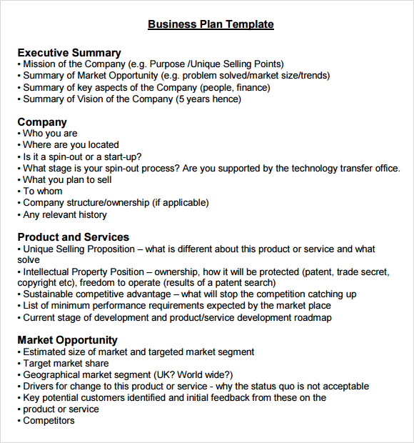 Business Summary Template Executive Summary Report Sample