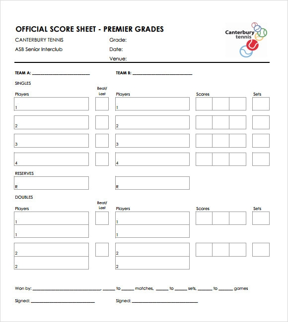 sample tennis score sheet 9 documents in pdf