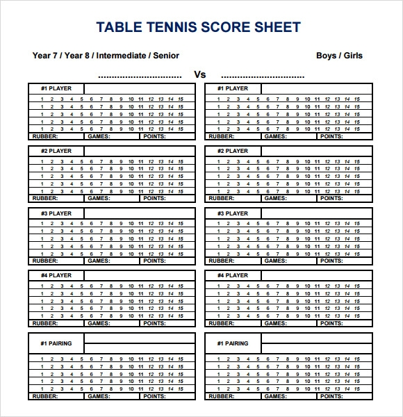 tennis score sheet 7 download documents in pdf sample templates