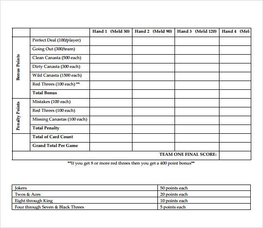 canasta rules pdf