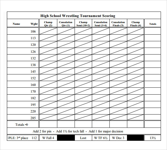 Wrestling Scoresheet Images - Reverse Search